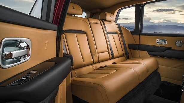 rolls royce cullinan interior rear
