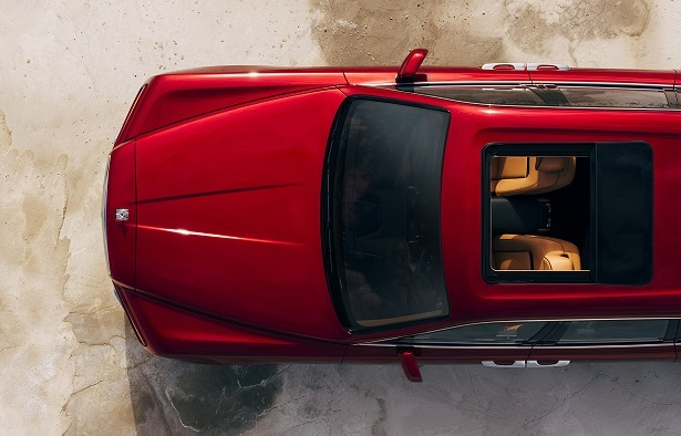 rolls royce cullinan red top front