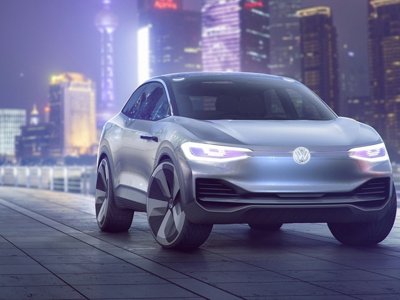 The VW I.D. Crozz has an illuminated logo that's pretty sweet (image: Volkswagen).