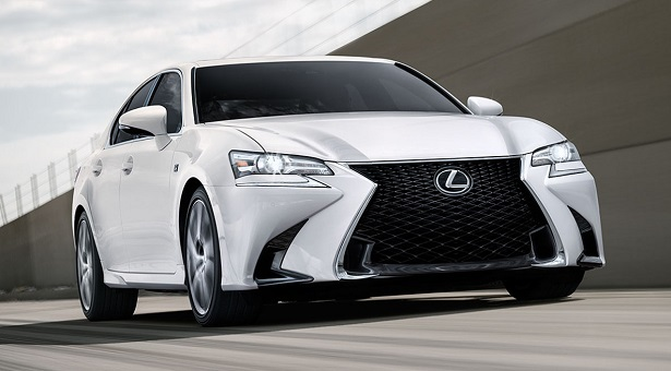 2018 lexus gs white track driving