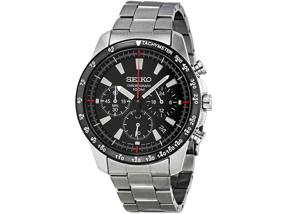 Seiko SSB031 Chronograph Stainless Steel Watch