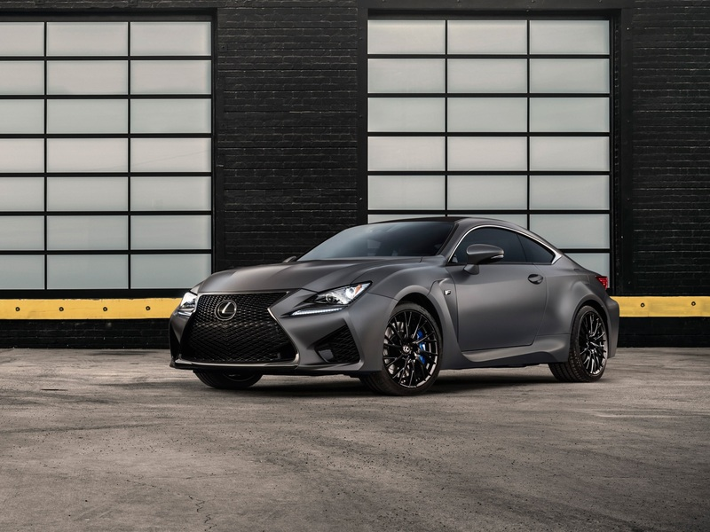 This Lexus RC F 10th Anniversary Edition looks black, grey, and beautifully blue.