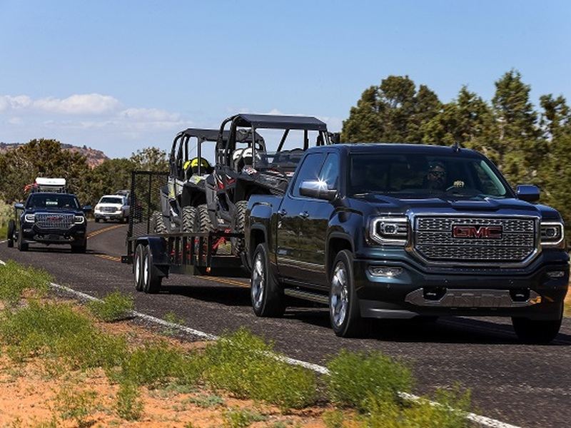 Towing side-by-sides was much easier than it looks thanks to the Sierra Denali