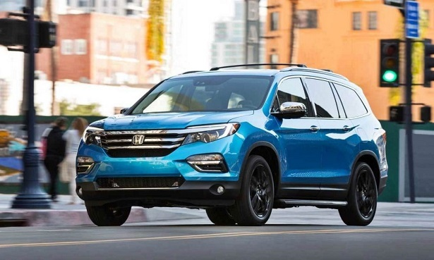 2018 honda pilot blue black wheels