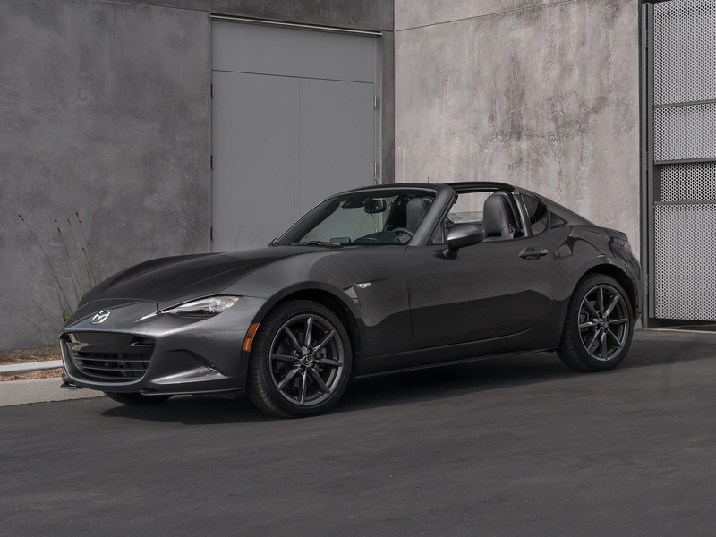 Grey on grey on grey, and the Miata RF is still exciting (images: Mazda).