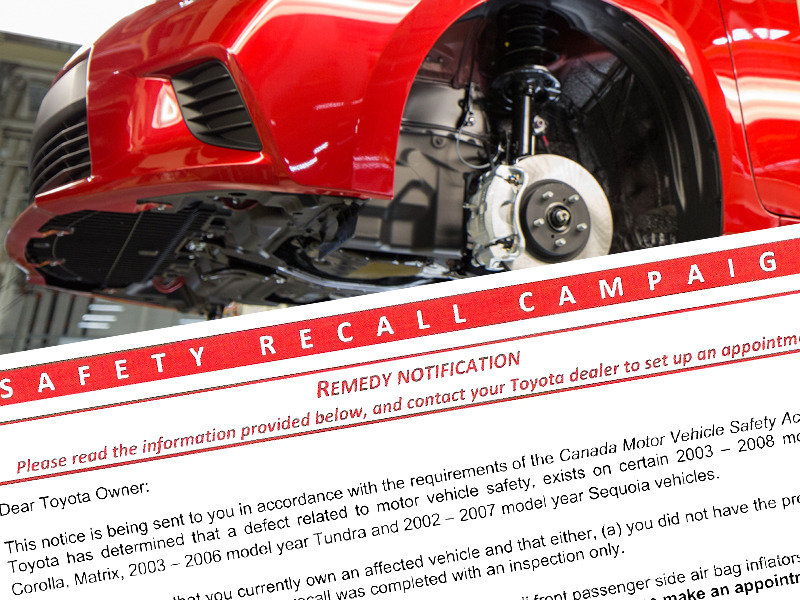 If there's a recall on your car, get it to a service center soon.