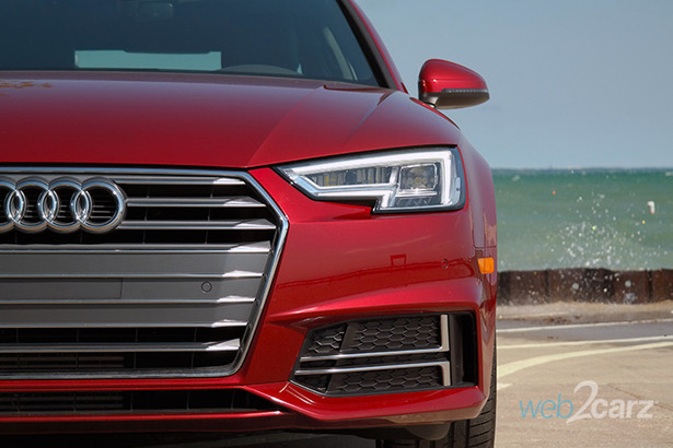 2018 Audi A4 headlight and grille