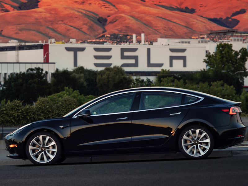 Tesla's Model 3 is finally rolling off the floor in large numbers. (images: Tesla)