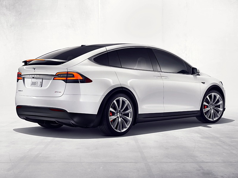The Model X's worst angle shown here for effect. (image: Tesla)
