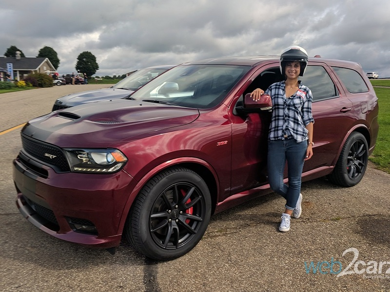 Unlike me, the 2019 Durango SRT was a natural on the track.