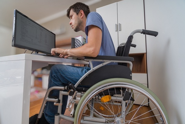 Person on disability working part time