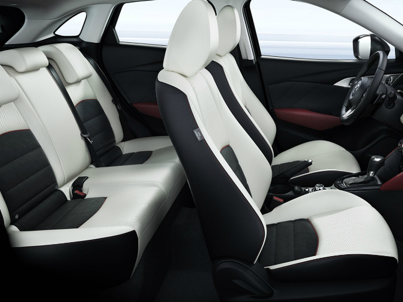 The Mazda CX-3's back seat is pretty snug and not in a good way.
