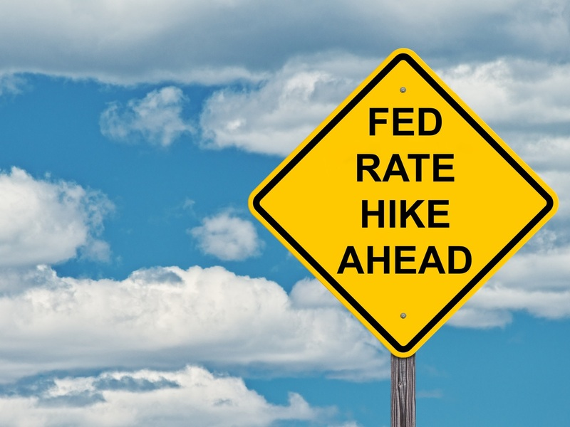 The next rate hike is predicted to come in December.