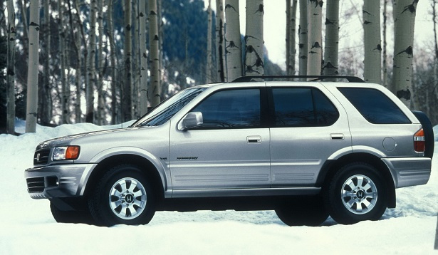 1998 honda passport silver