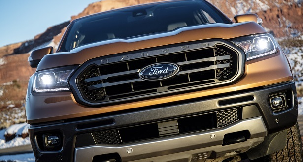 ford ranger grille close up