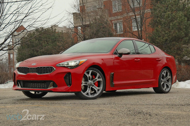 kia stinger gt red front 34