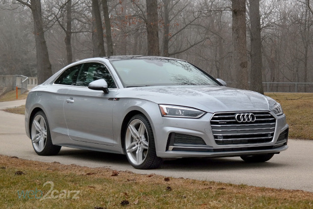 audi a5 coupe front 34