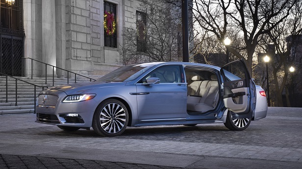 lincoln continental coach doors open