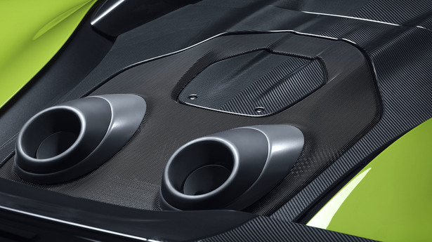 mclaren 600lt spider exhaust