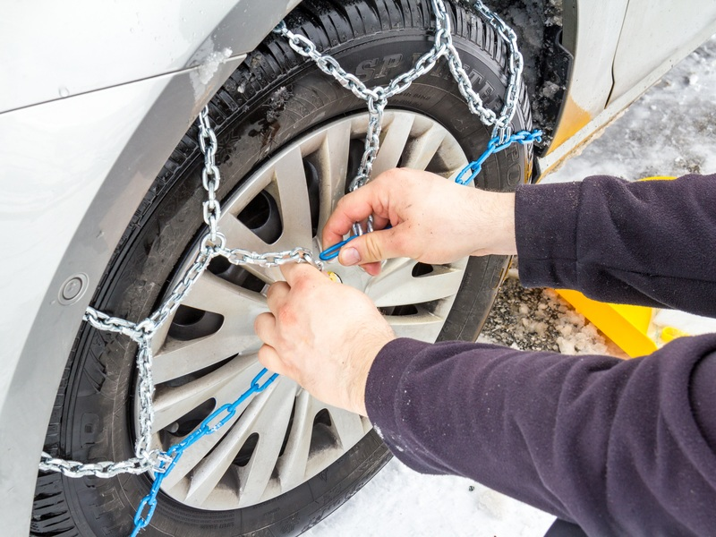 Chain up your tires to make snow worries a thing of the past.