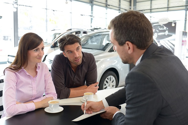 Auto finance at dealership
