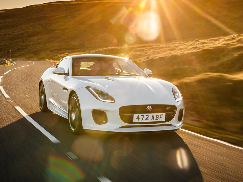 The F-Type Checkered Flag Edition finishes without the manual.