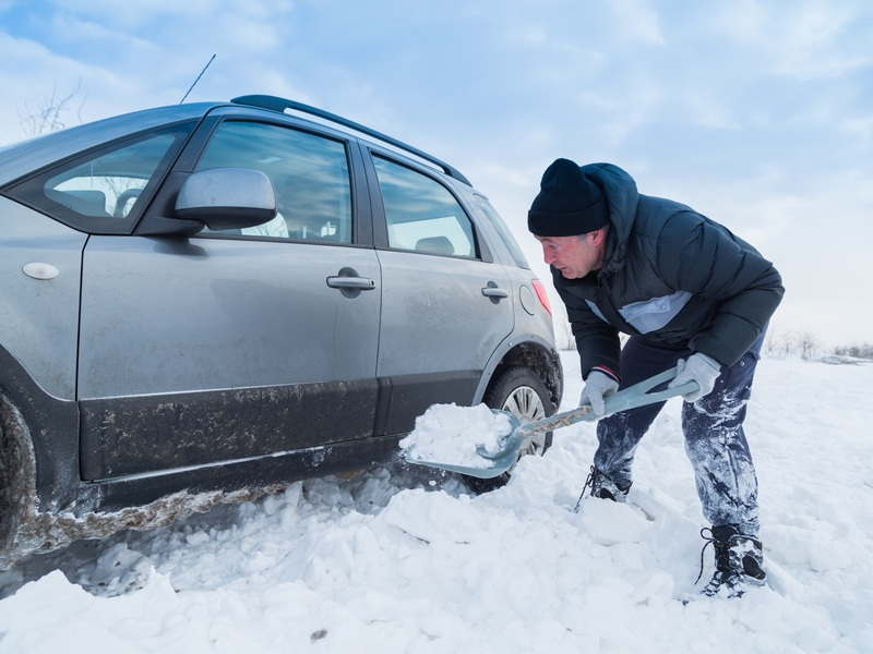 You've been here before and you'll be here again. Have a car snow shovel ready.