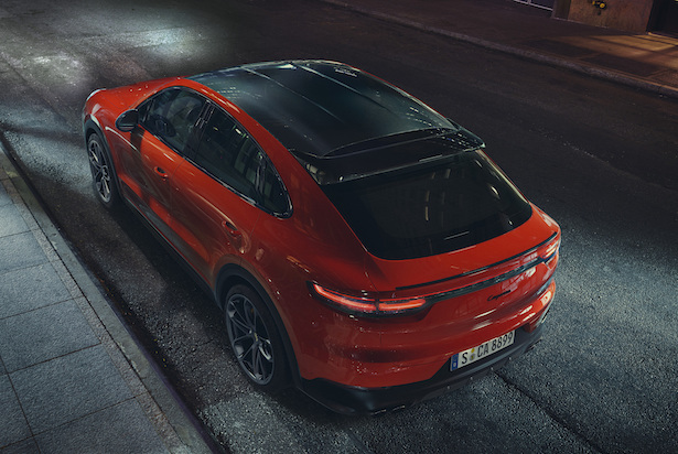 porsche cayenne coupe rear top