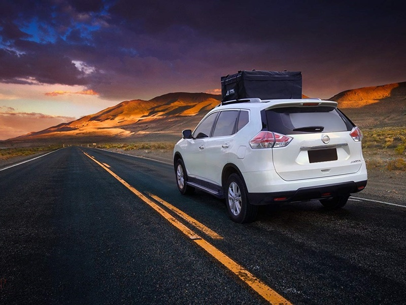 Your camping supplies will drive off into the sunset safely with these roof carriers.