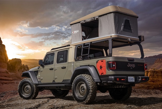 Jeep Wayout with Tent