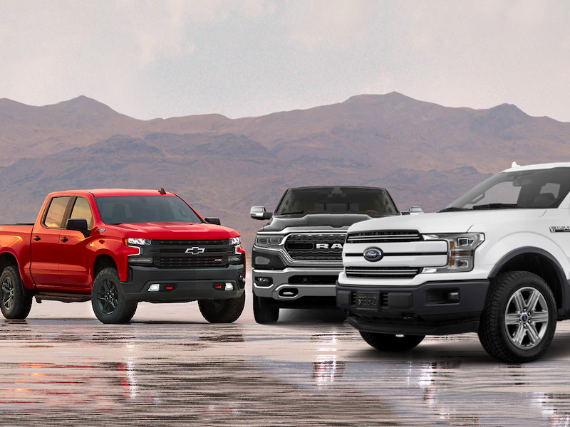Pickup trucks take the top three spots and we're not the least bit surprised.