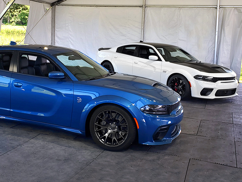 The Charger SRT Hellcat and Scat Pack get the widebody treatment and a faster 0-60.