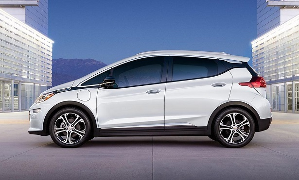 chevy bolt white profile
