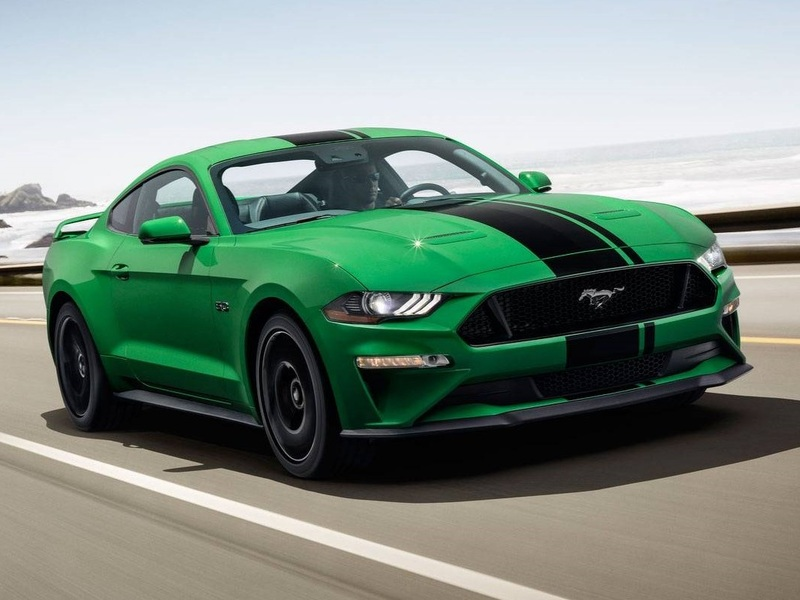 The flashy green paint just makes the V8 Mustang even cooler. (image: Ford)