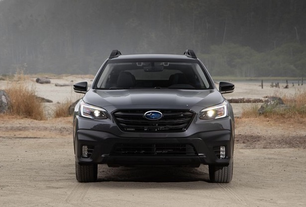 2020 subaru outback black front