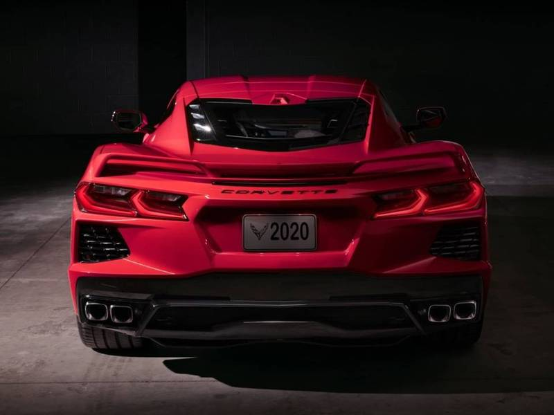 Don't let this be your only view of the C8 as it drives away.