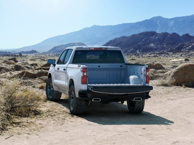 The Chevy Silverado 1500 gets a bigger bed for 2019 to top the list.