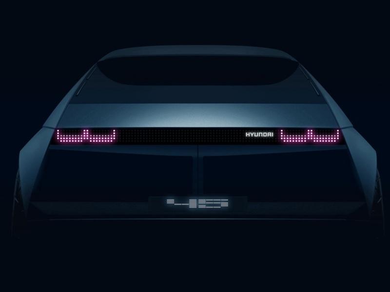 Those moving LED grid lights form a unique taillight signature.