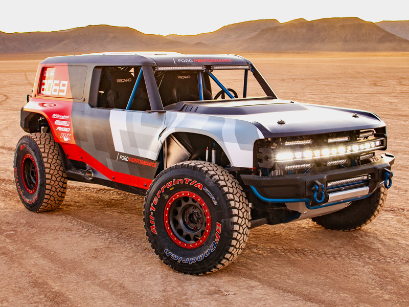 The Bronco R looks ready to jump the bumps and bomb the straights.