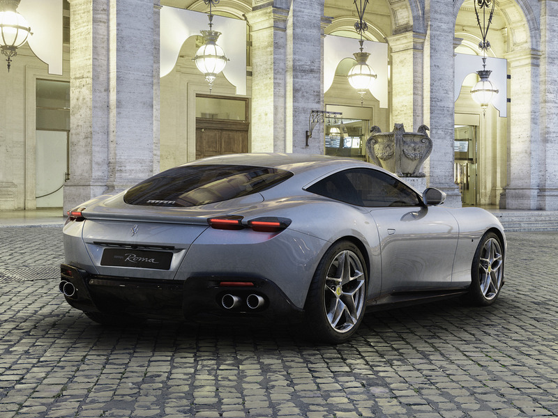 That rear 3-quarter view shows off the Roma's best lines.