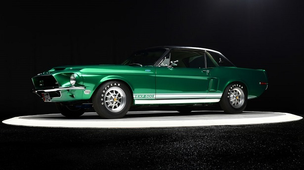 green mustang front 58
