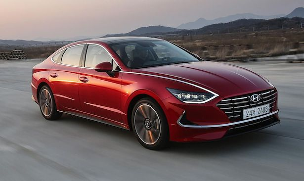 2020 hyundai sonata red