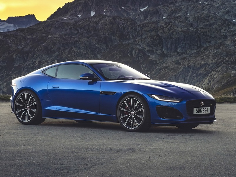 The F-Type coupe looks slick coming and going.
