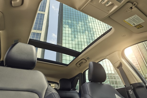 Panoramic sunroof in the Ford Escape
