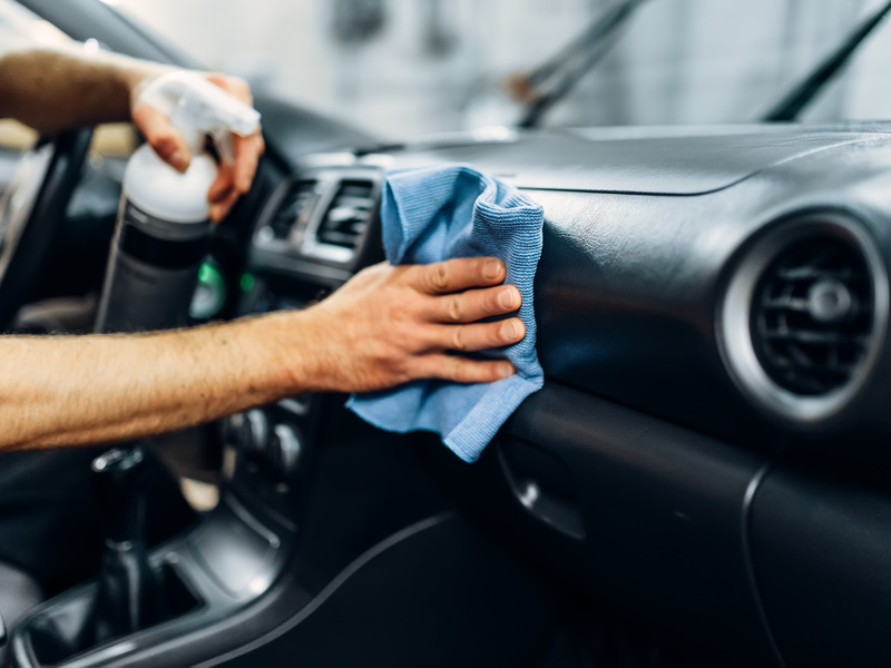 Don't let germs get parked on your car's surfaces this season.