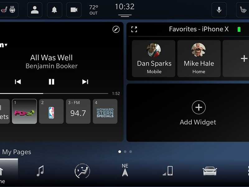 The personalized home screen is one of the best features in FCA's Uconnect 5 system.