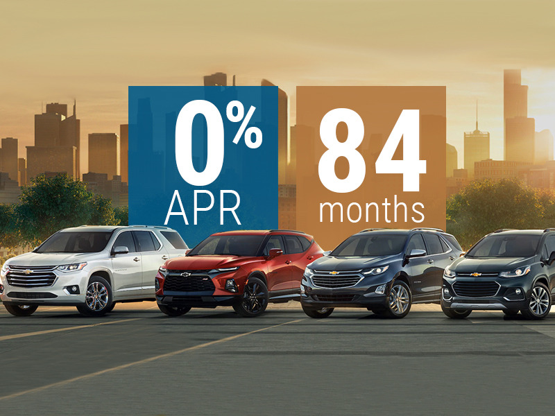 GM is offering 0% financing for 84 months on Chevy vehicles during COVID-19.