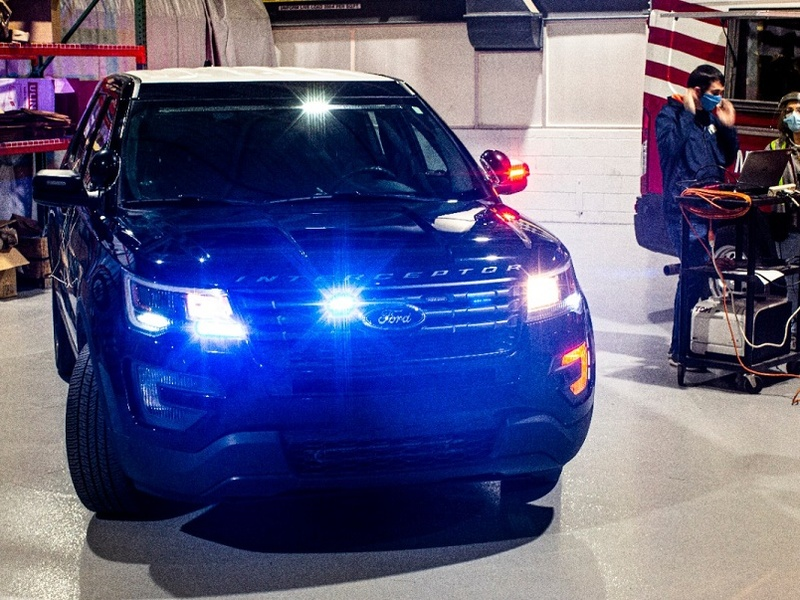 The Ford Police Interceptor Utility gets scorched to over 130 degrees. (image: Ford)