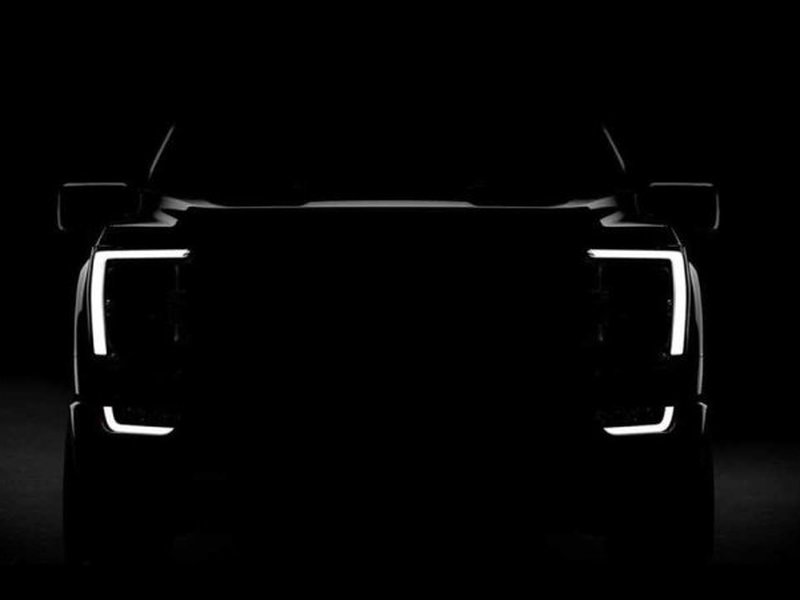 There will be no mistaking the next F-150 for any other truck, day or night.