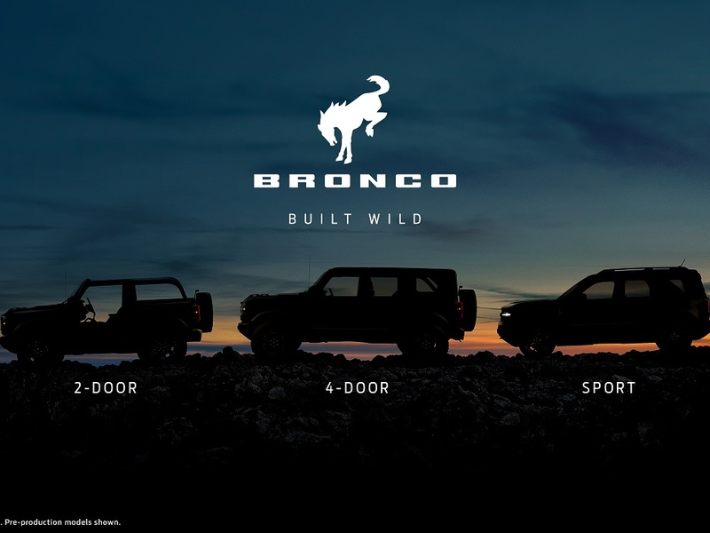 The Ford Bronco makes a big comeback with 3 new body styles.